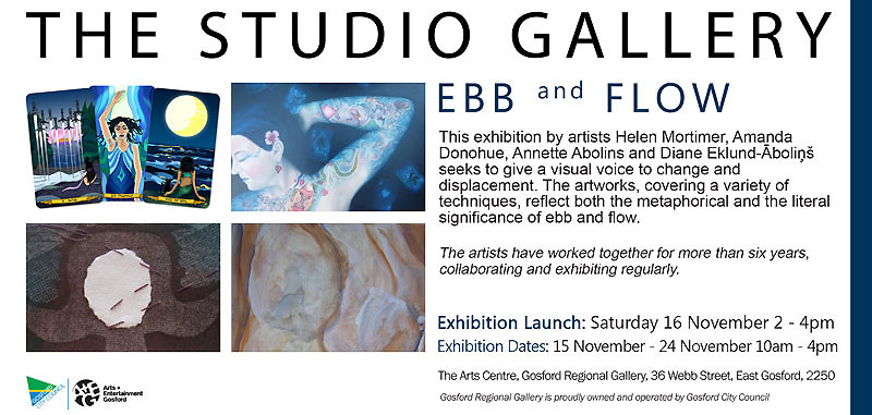Ebb and Flow exhibition invite