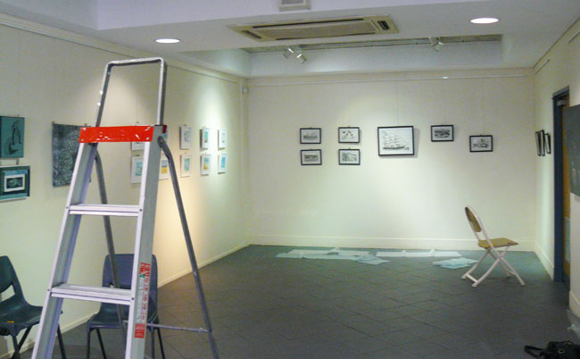 Hanging the exhibition