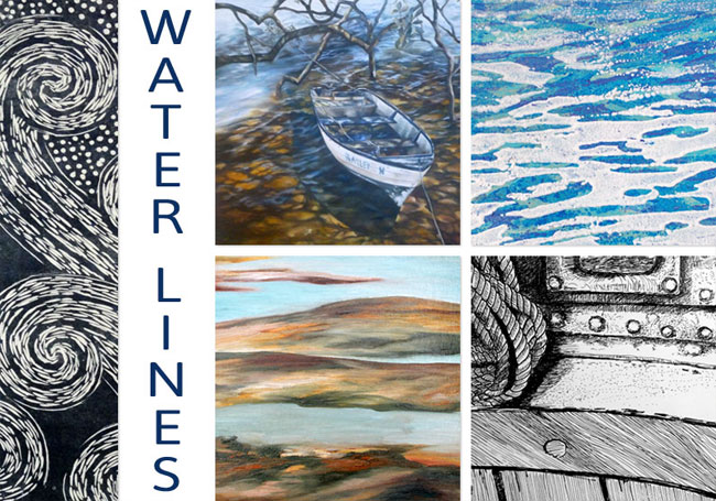 Water Lines - exhibition invite