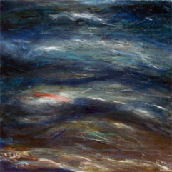 Ocean-I-oil-and-printmaking-on-canvas-30x30-large