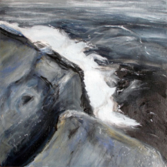 Rocks-and-Water-1-oil-and-printmaking-on-canvas-30x30-large